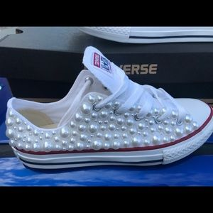 821ade5adcaa Converse Shoes - Converse All Star Chuck Taylor pearl sneakers